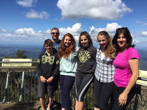 Exchange student in gita con la host family
