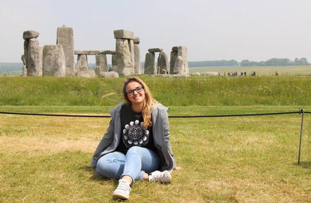 la nostra exchange student Caterina a Stonehenge