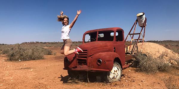 exchange student in gita alle White Cliff in Australia