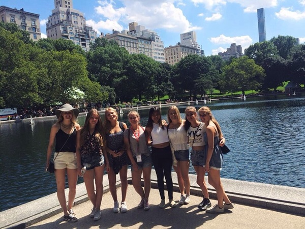 Exchange student durante il camp di New York a Central Park