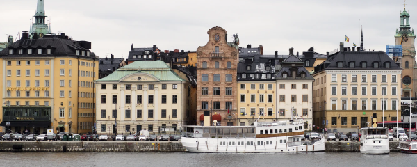 Città in Svezia, porto cittadino