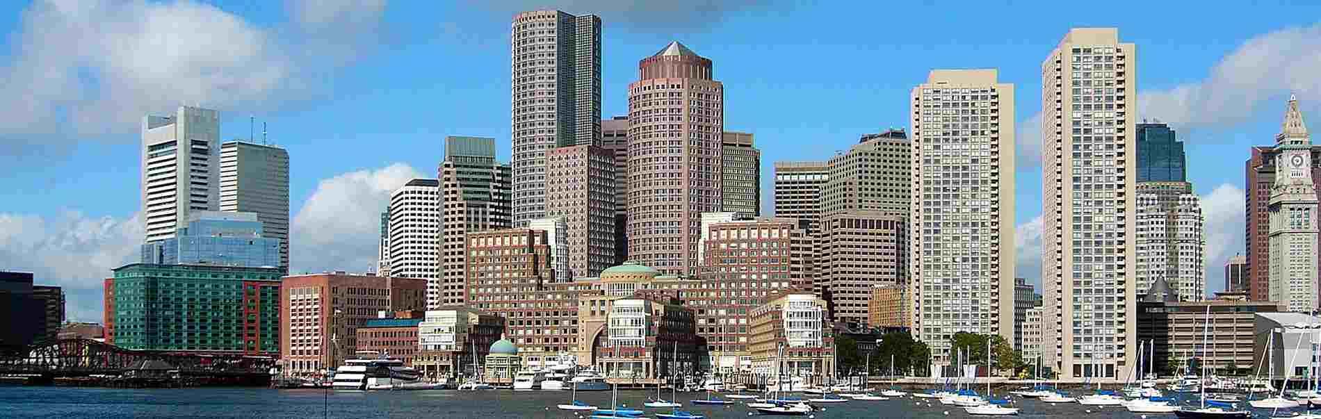 Khung cảnh đường chân trời tại Boston