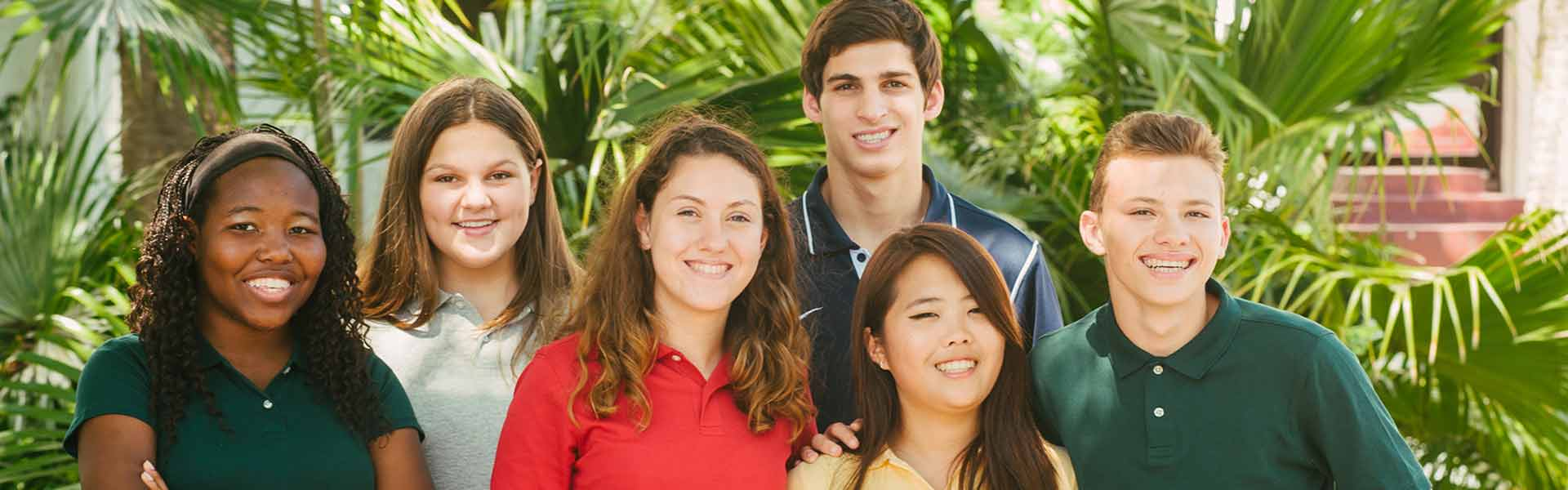 Students attending Florida Prep, in Florida.