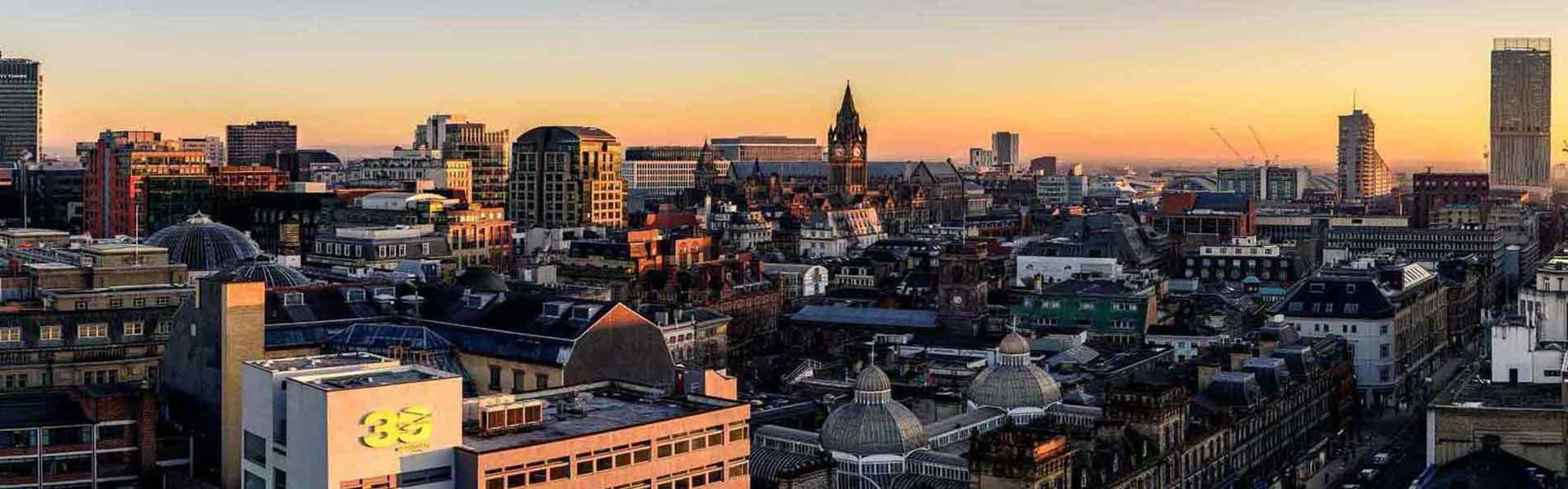 Đường chân trời tại Manchester, Anh quốc