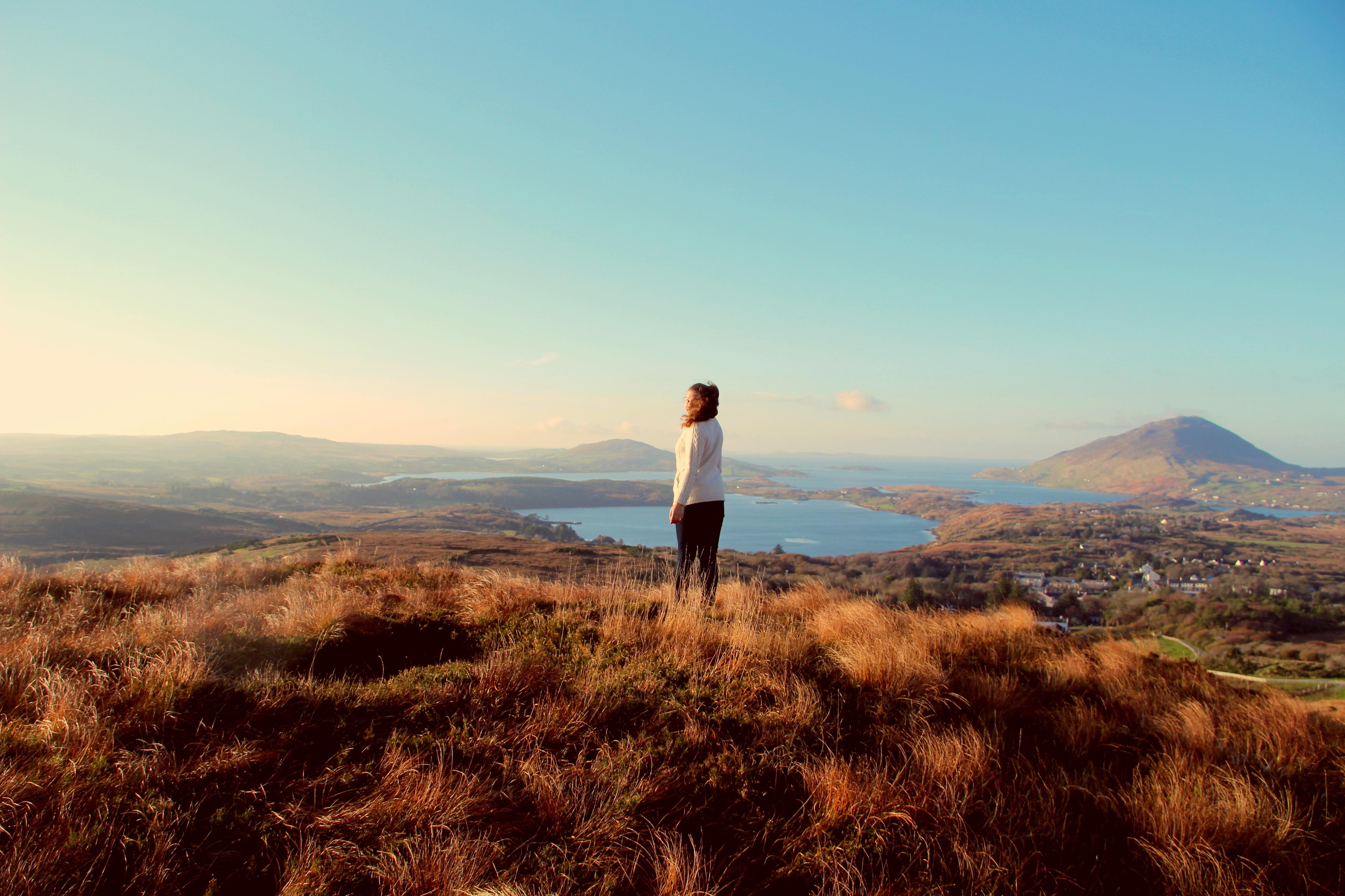 Ireland Girl on a field