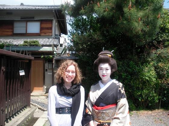 Japan Girl with Geisha