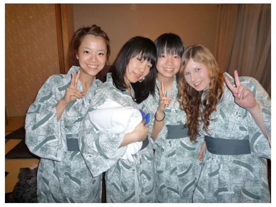 Japan Girls in Yukatas