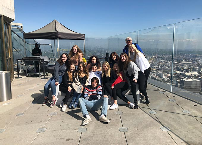 Class trip to Los Angeles