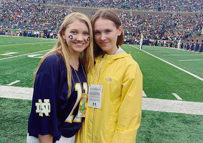 Daria with her friends at Notre Dame