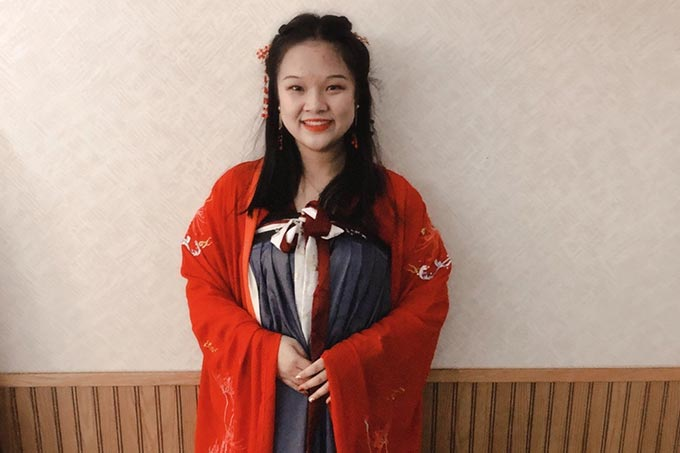 Hariou from China won Miss Congeniality at her high school!