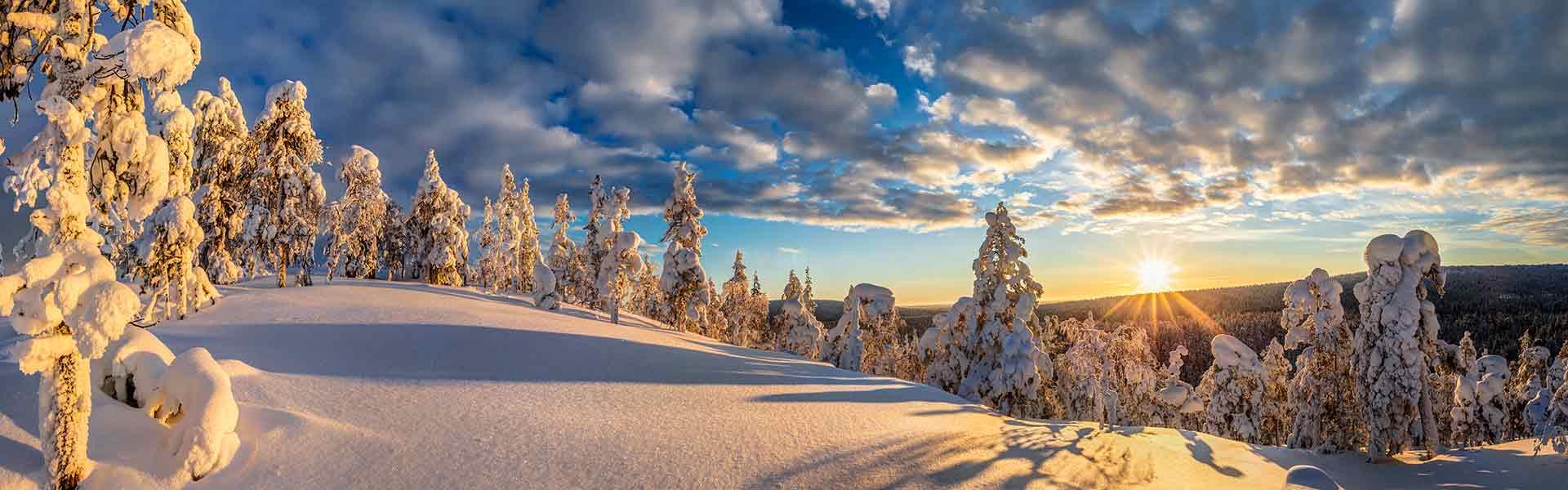 Winter sunrise in Finland