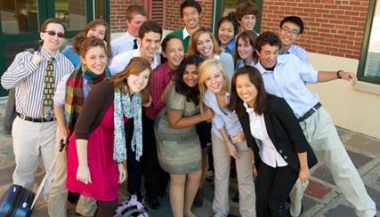 美国奖学金项目学生在校园