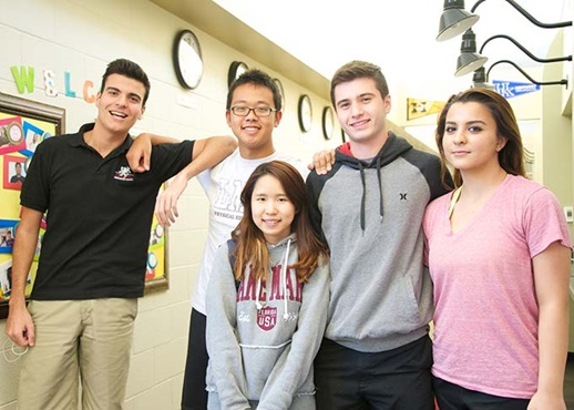 Students at Lake Mary Preparatory Private Day and Boarding School in Florida USA