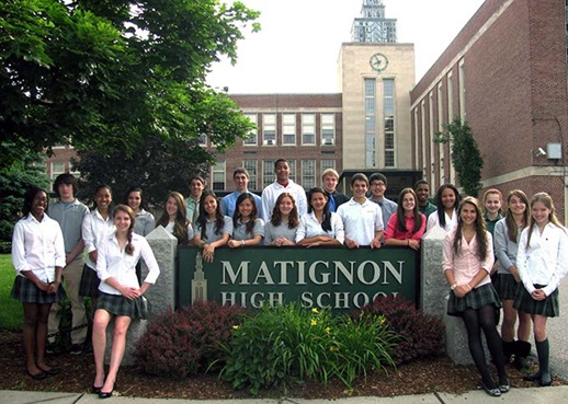 Students at Matignon High Private Day School in Massachusetts