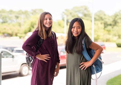 Norfolk Christian School students