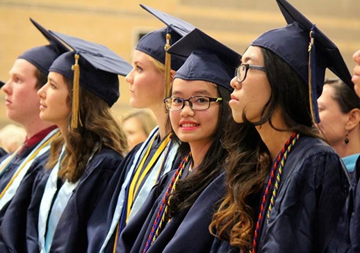 Rancho Solano Prep School students at graduation