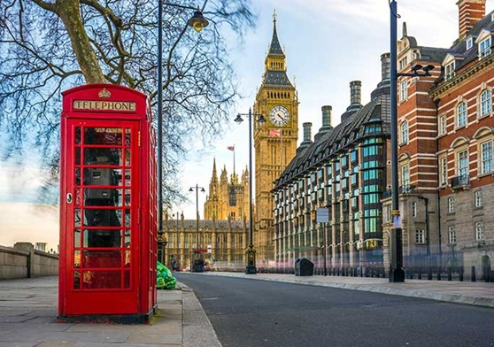 Classic phone booths in London