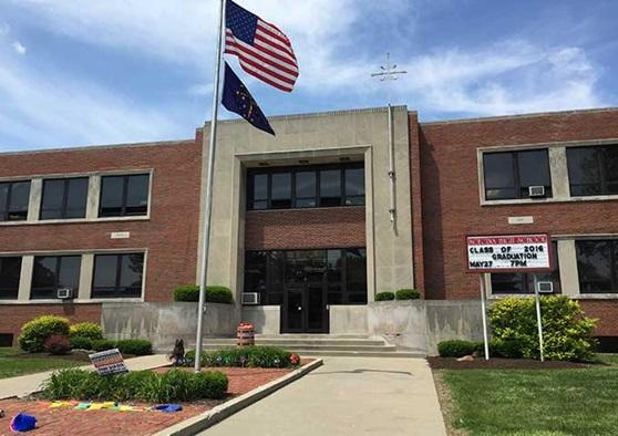 Front of Scecina Memorial High School