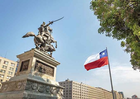 Capital city of Chile, Santiago.
