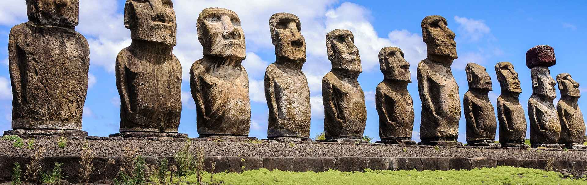 Easter Island statues.