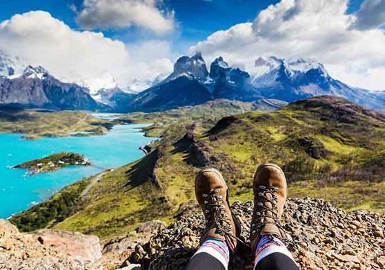 Mountain landscape when exploring Chile.