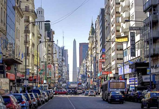A city street in Buenos Aires