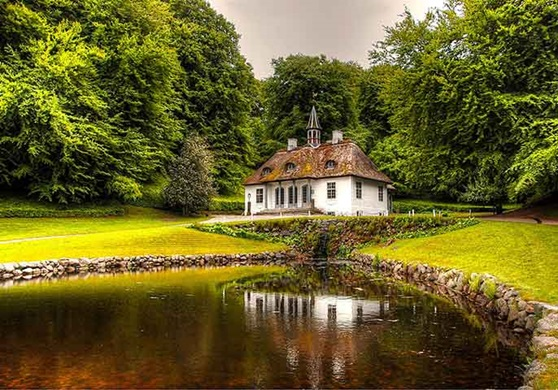 House in the Danish countryside.