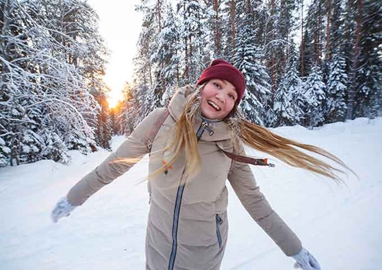 Enjoying the outside weather and adventures in Finland.