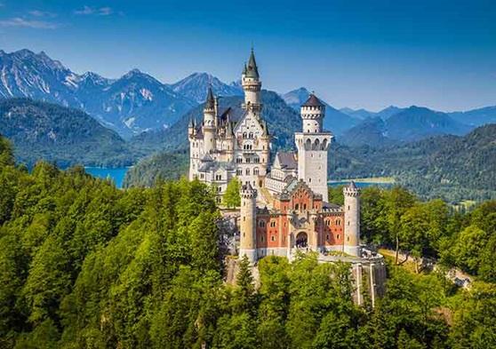German hillside castle
