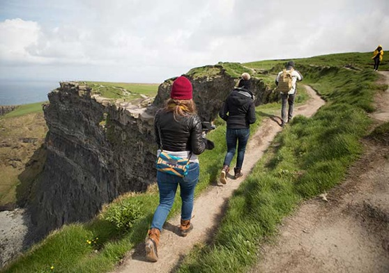 Students on a hiking adventure in Ireland