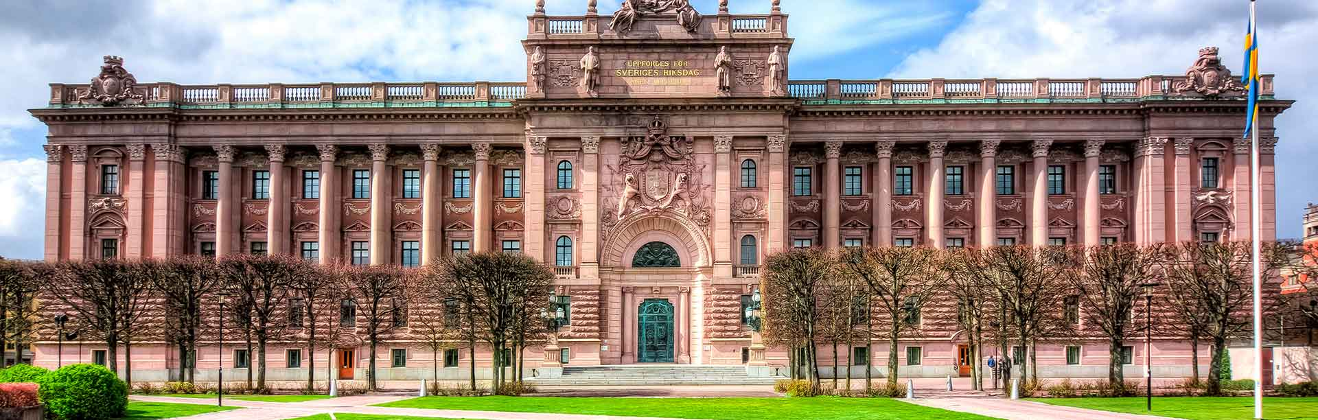 The royal palace in Sweden