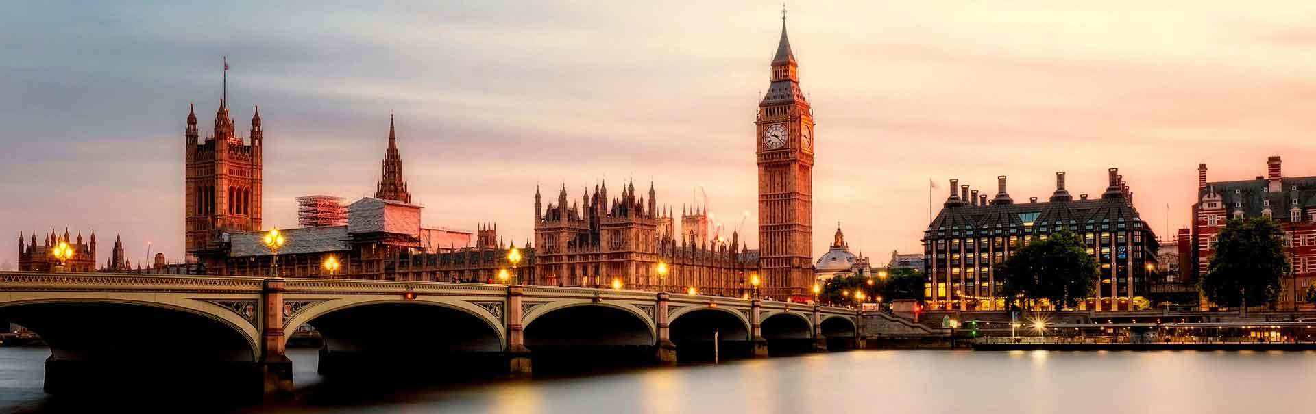 Skyline of Big Ben and Parliament, in London.