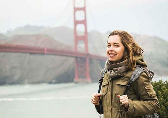 Golden Gate Bridge, in San Francisco