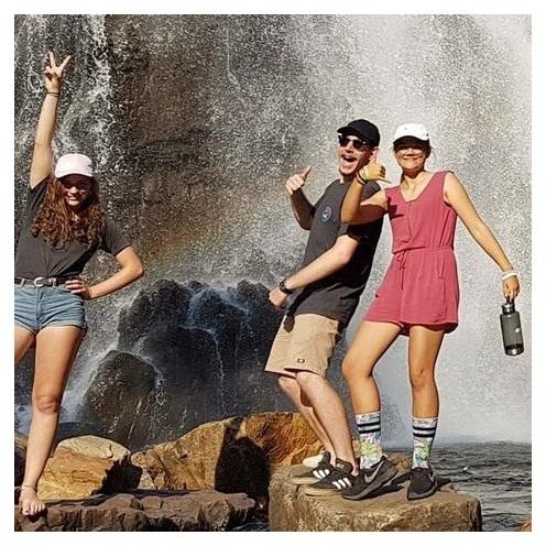 Vaihto-oppilaat retkellä Australiassa