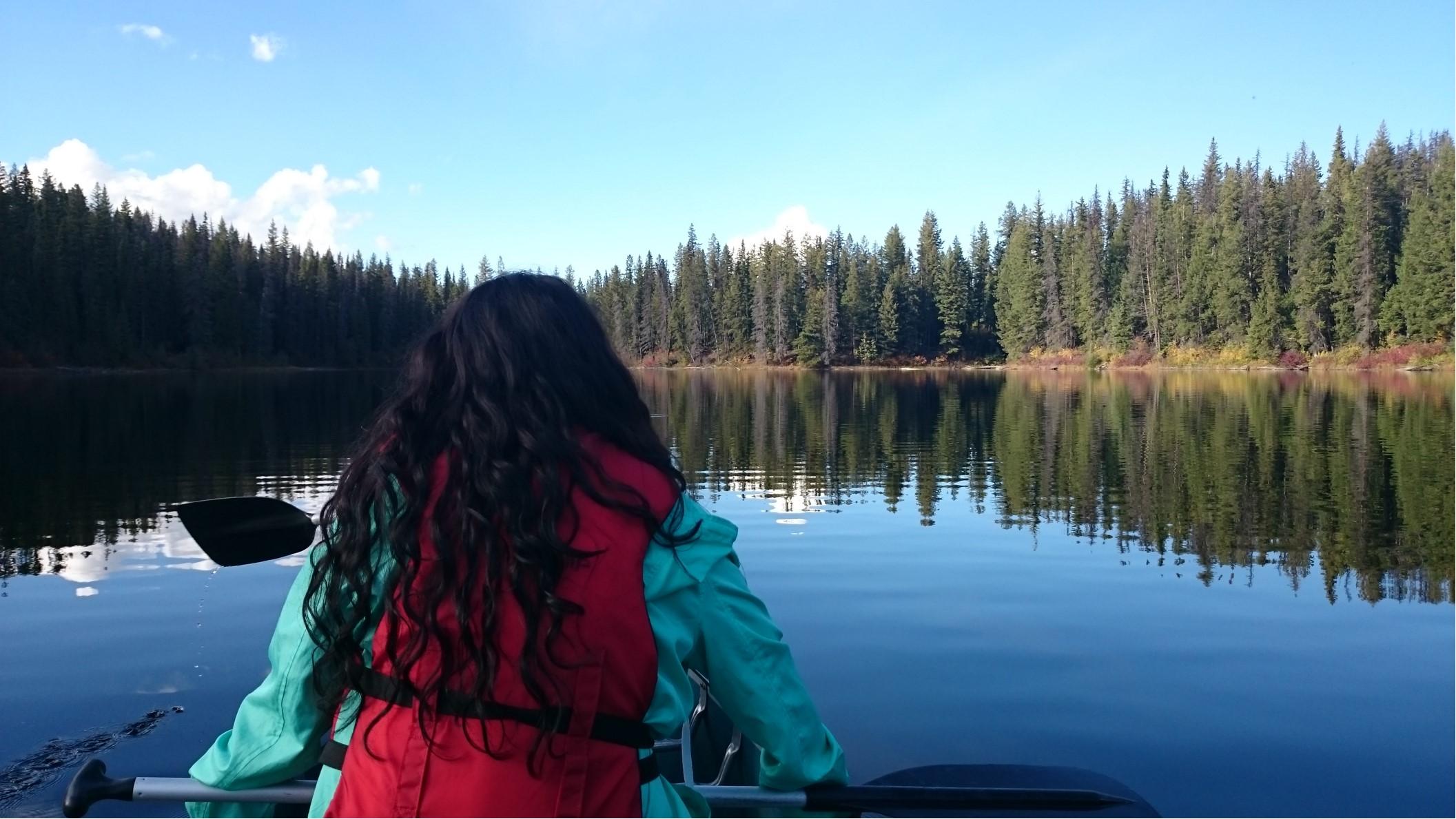 Utvekslingsstudent på  kanotur