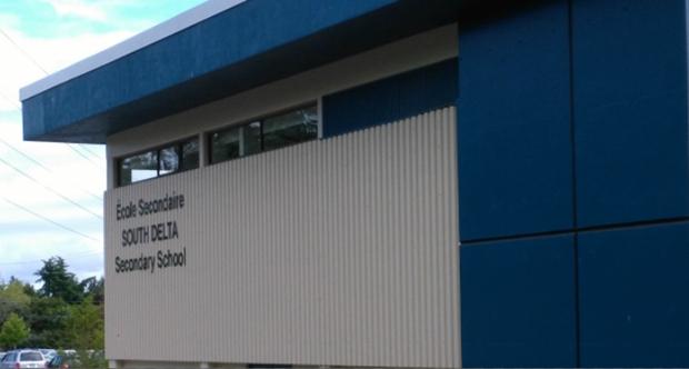 Fronten av Delta High School