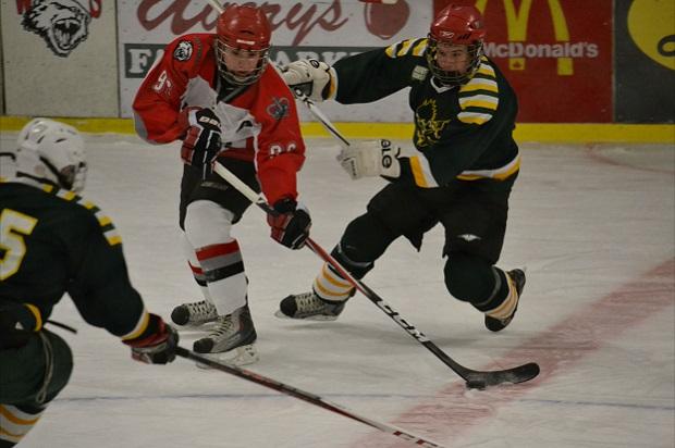 Nuoret miehet pelaamassa jääkiekkoa Kanadassa