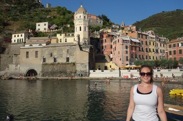 Utvekslingsstudent på kysten av Italia