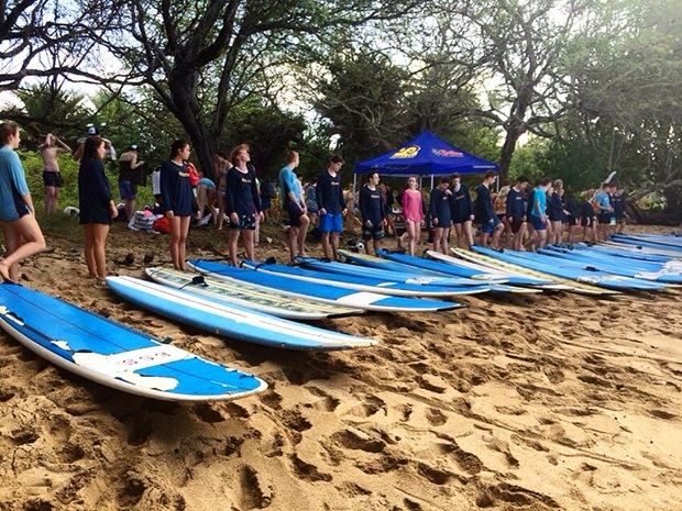 utbytesstudent surf kurs