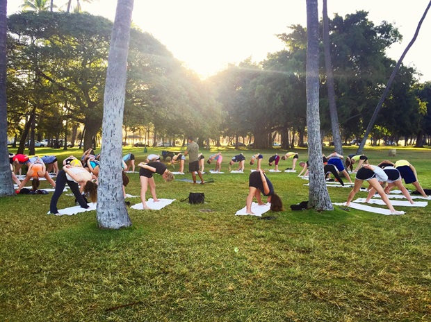 yoga på hawaii