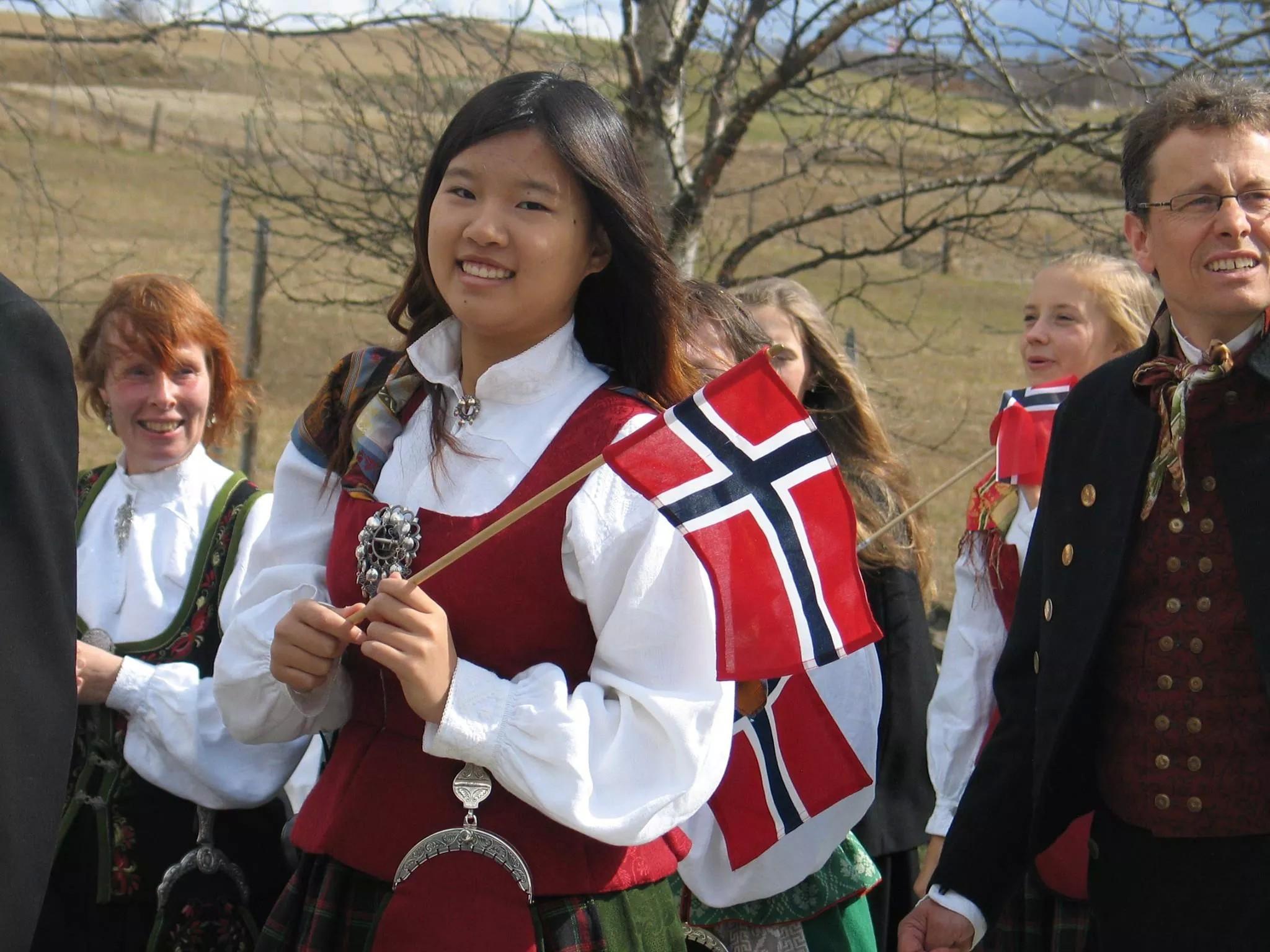 Utvekslingsstudent i Norge feirer 17. mai