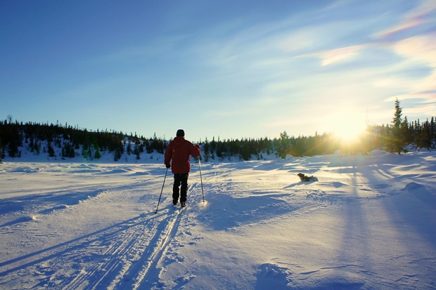 Utvekslingsstudent på ski i Norge