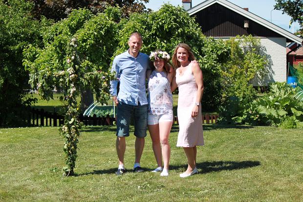 vertsfamilie om sommeren