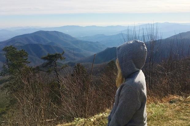 Vaihtari katselemassa nähtävyyksiä North Carolinassa