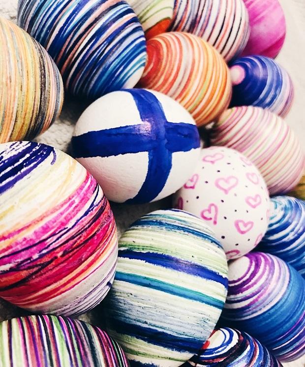 Maalattuja Pääsiäismunia