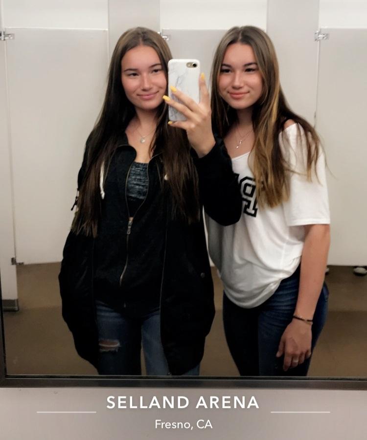 Siskon kanssa Selland Arenalla