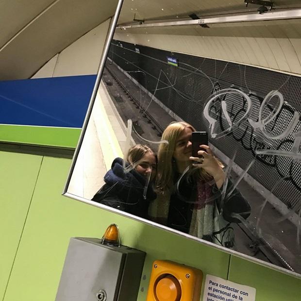 Kaverin kanssa Madridissa