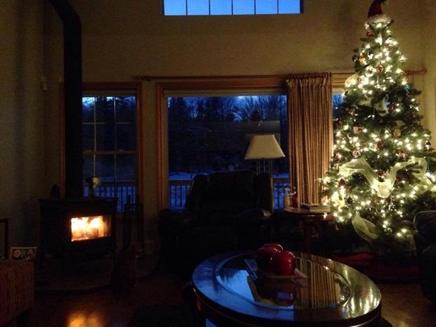 Jul i stua i Canada