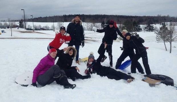 Ut å leke i snøen!