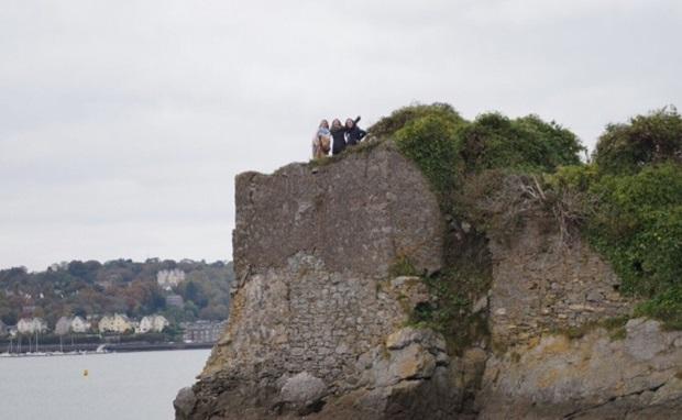 På toppen av slottet